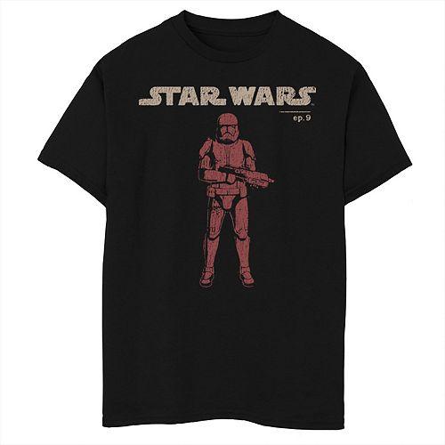 Boys 8-20 Star Wars Logo Red Trooper Sketch Tee