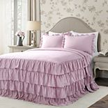 Lush Decor Allison Ruffle Skirt Bedspread and Sham Set