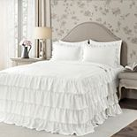 Lush Decor Allison Ruffle Skirt Bedspread and Sham Set