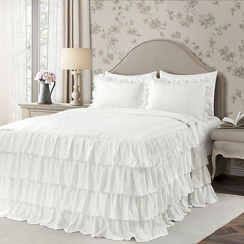 Lush Decor Allison Ruffle Skirt Bedspread