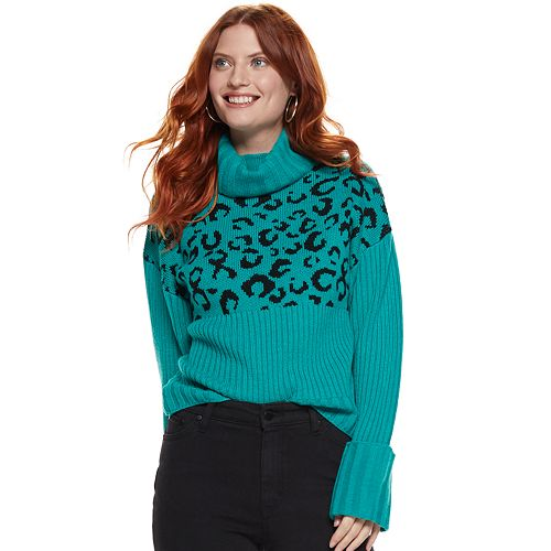 Women's Nine West Rib Turtleneck Sweater