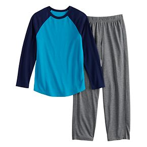Boys 4-20 & Husky Urban Pipeline Raglan Top & Bottoms Pajama Set