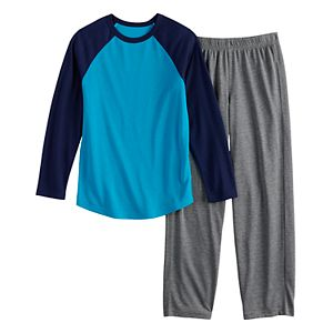 Boys 4-20 & Husky Urban Pipeline Raglan Top & Bottoms Pajama Set