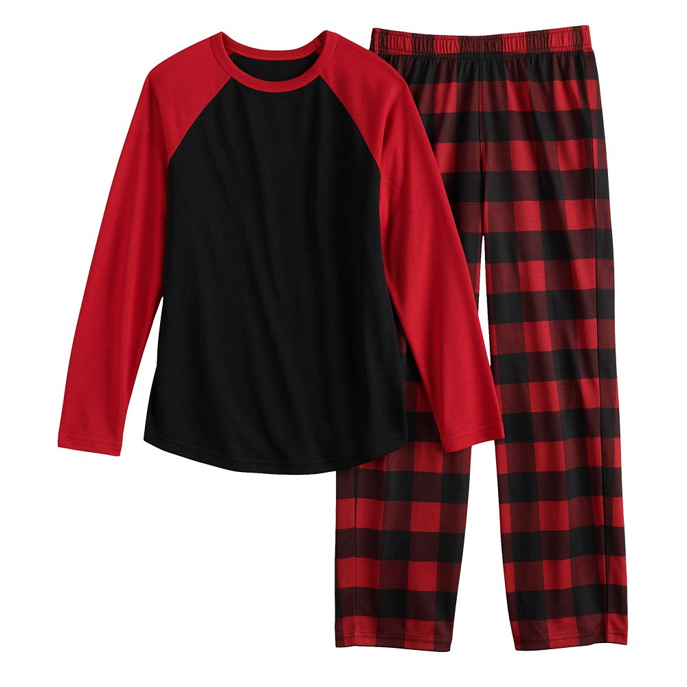 Boys 4-20 & Husky Urban Pipeline™ Raglan Top & Bottoms Pajama Set