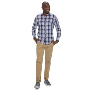 Men's SONOMA Goods for Life® Slim-Fit Poplin Button-Down Shirt