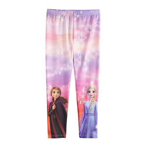 Disney's Frozen 2 Anna & Elsa Girls 4-12 Fleece-Lined Leggings by Jumping Beans®