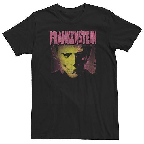 Men's Universal Monsters Frankenstein Head Shot Movie Poster Tee