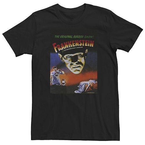 Men's Universal Monsters The Original Horror Show Frankenstein Movie Poster Tee