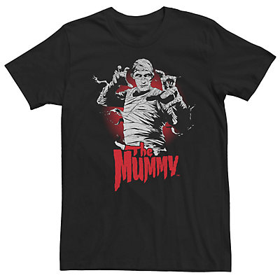 Men's Universal Monsters The Mummy Red Hue Portrait Poster Tee