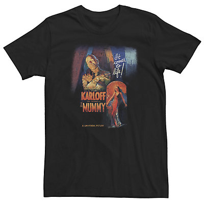 Men's Universal Monsters The Mummy It Comes To Life Vintage Poster Tee
