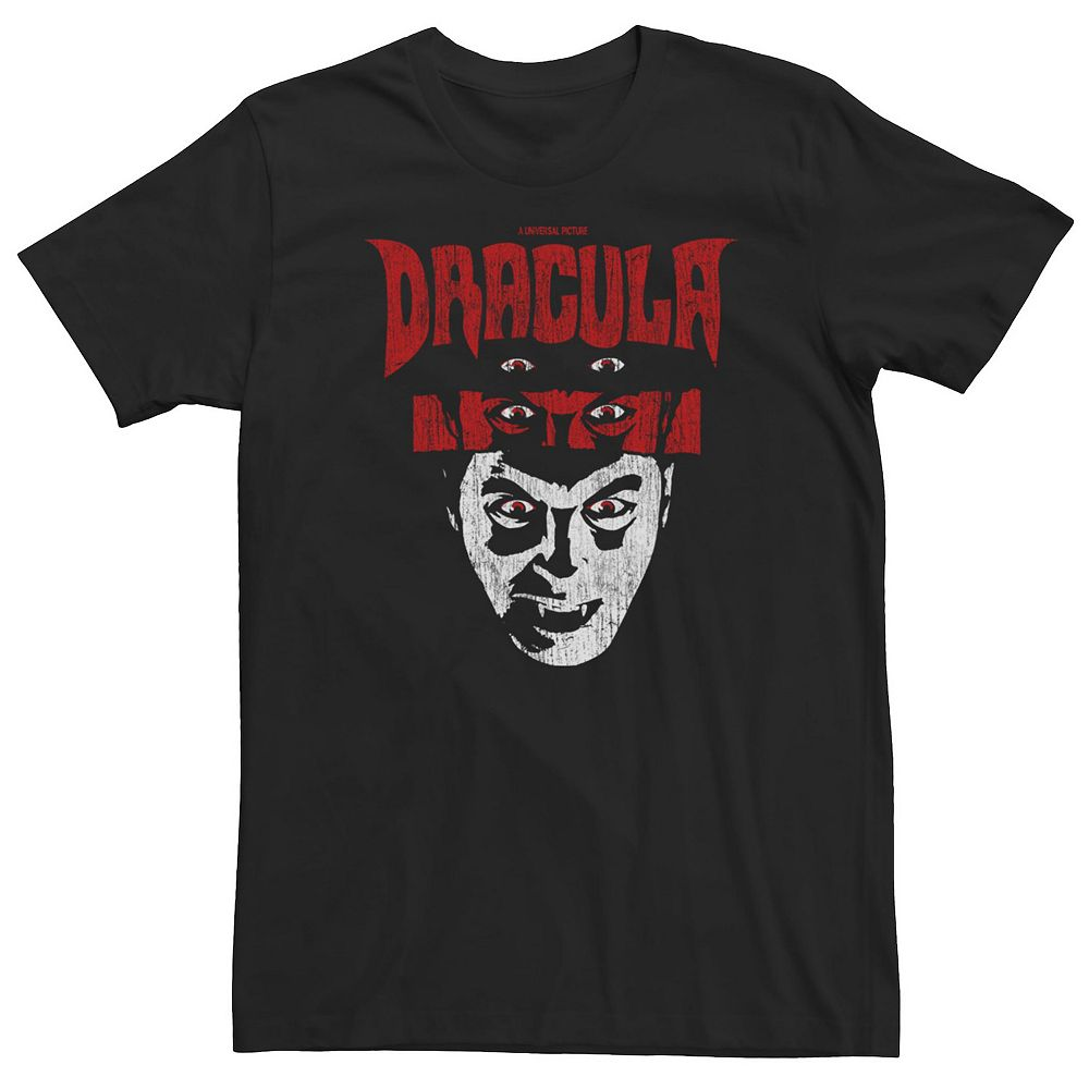 Men's Universal Monsters The Eyes Of Dracula Distressed Portrait Tee