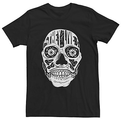 Men's They Live Alien Face Forehead Text Tee