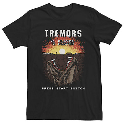 Men's Tremors Video Game Start Screen Poster Tee