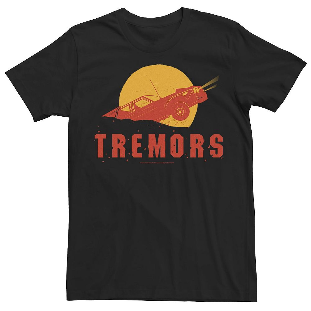 Men's Tremors Two Tone Car Being Swallowed Silhouette Logo Tee