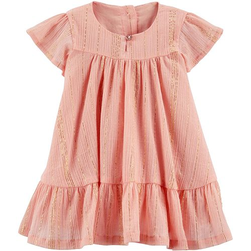Baby Girl OshKosh B'gosh® Rose Gold Ruffle Dress