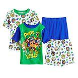 Boys 4-8 PAW Patrol 4-Piece Jungle Dogs Pajama Set
