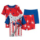 Boys 4-10 Spider-Man Brave Spider 4-pc. Pajama Set