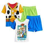 Disney's Toy Story 4 Boys 4-10 Woody and Friends 4-Piece Pajama Set