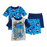 Boys 4-12 Jurassic World Velociraptor 4-Piece Pajama Set