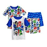 Boys 4-8 PJ Masks Heroes vs. Villains 4-Piece Pajama Set