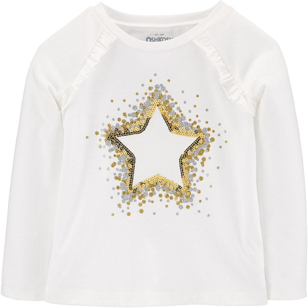 Baby Girl OshKosh B'gosh® Sequin Star Tee