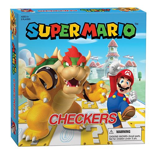 Super Mario Checkers Board Game