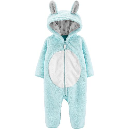 Baby Carter's Bunny Hooded Sherpa Jumpsuit