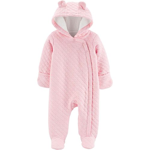 Baby Girl Carter's Quilted Heather Hooded Bunting