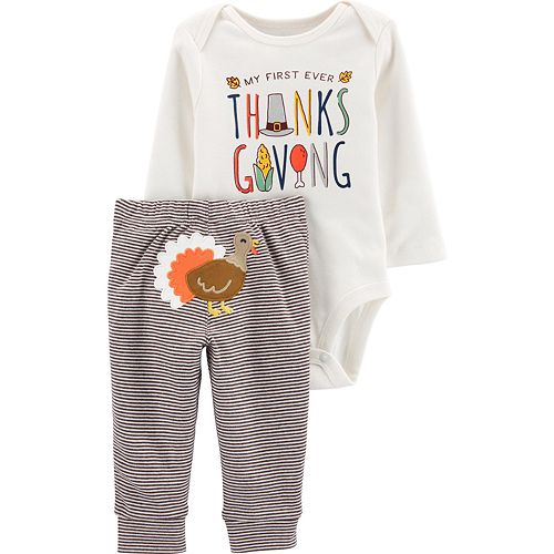 Baby Carter's 2-Piece Thanksgiving Bodysuit Pants Set