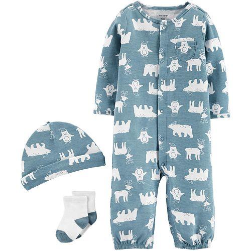 Baby Boy Carter's 3-Piece 3-piece Converter Gown Set