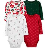 Baby Girl Carter's 4-Pack Holiday Bodysuits