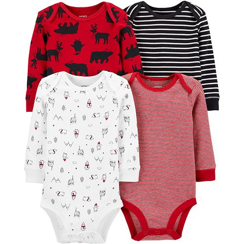 Baby Boy Carter's 4-Pack Holiday Bodysuits