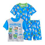 Boys 4-10 Minecraft Tops & Shorts Pajama Set