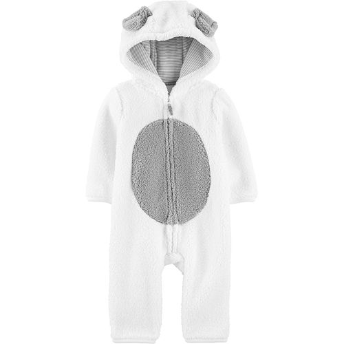 Baby Carter's Dog Hooded Sherpa Jumpsuit