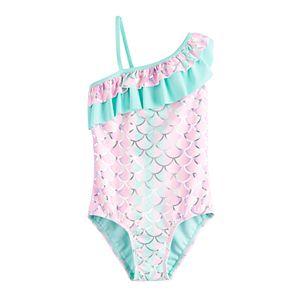 Girls 4-6x SO® Mermaid Wave Single Strap One-Piece Swimsuit