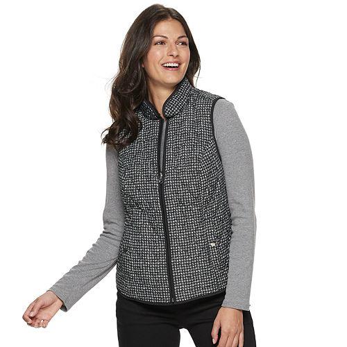 Women's Croft & Barrow® Reversible Sherpa Vest