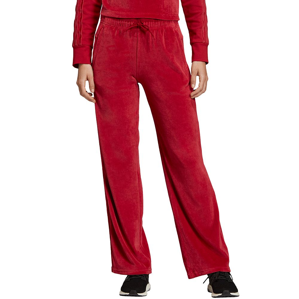 Women's adidas Sport ID Open Hem Velour Pants