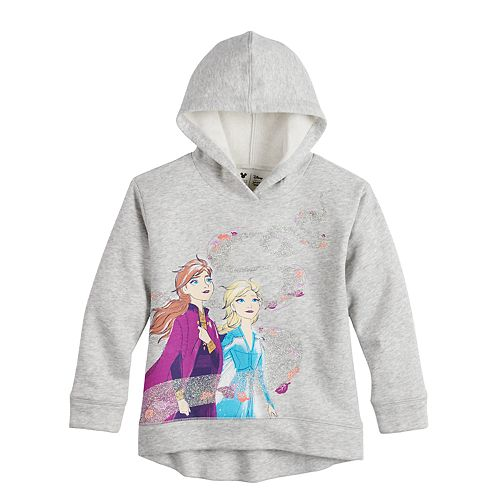 Anna and Olaf Girls Purple Zip-Up Hoodie Sweatshirt 6 Disney Frozen Elsa