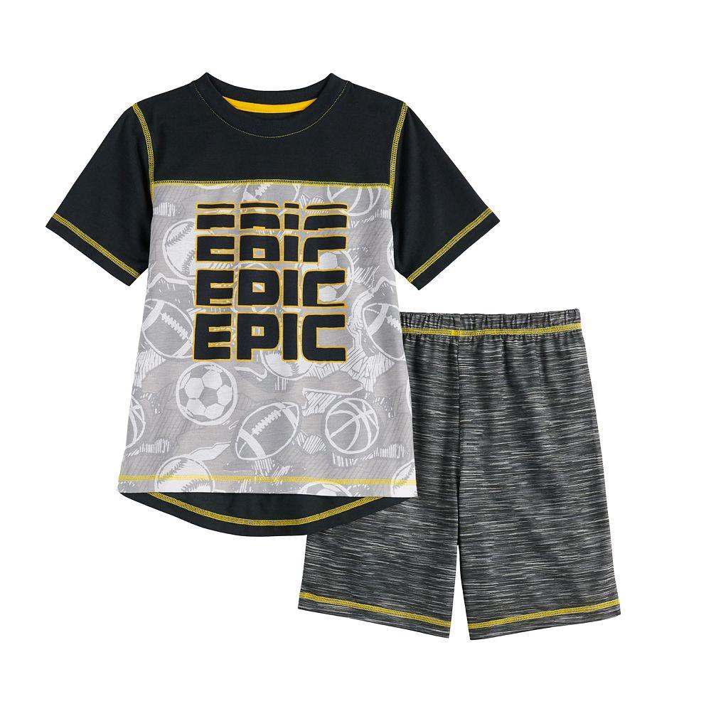 Boys 4-16 Cuddl Duds® Top & Shorts Pajama Set