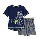 Boys 4-16 Cuddl Duds Top & Shorts Pajama Set
