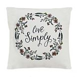 Stratton Home Decor Live Simply Pillow