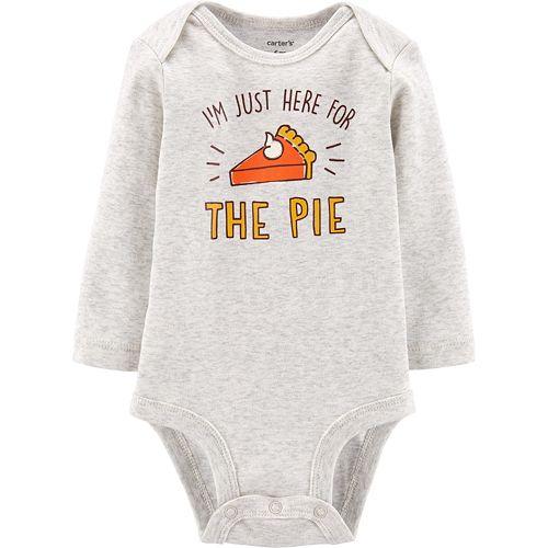 Baby Carter's Pumpkin Pie Holiday Collectible Bodysuit