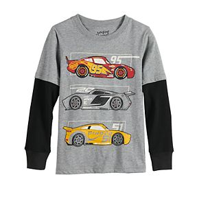 Boys 4-12 Jumping Beans® Race Car Mock-Layered Graphic Top