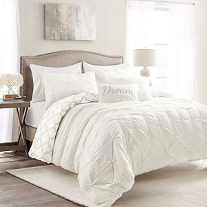 Lush Decor Ravello Pintuck Caroline Geo 5-Piece Comforter Set