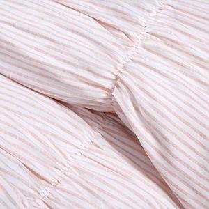 Lush Decor Ruching Ticking Stripe Comforter Set