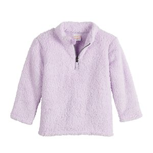 Toddler Girl Jumping Beans Solid Teddy 1/4 Zip