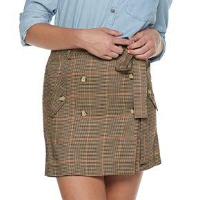 Juniors' Joe B Paperbag Skirt