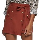 Juniors' Joe B Paperbag Skirt