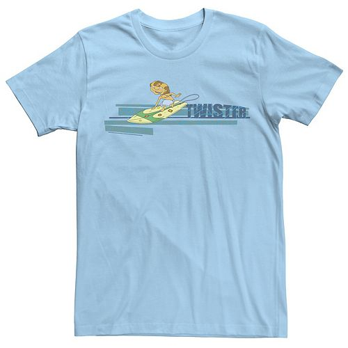 Men's Rocket Power Twister Surf Retro Logo Tee