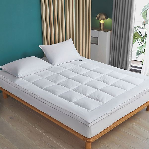 Hotel Suite Tencel 2 In Mattress Topper, Can You Put A Full Size Mattress Topper On Queen Bed